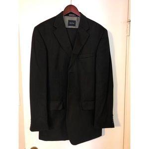 Nautica Black 2 piece Suit 32x34 pant 34x35 jacket